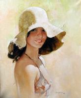 A girl with sun hat - SANJULIAN -  Comic Art