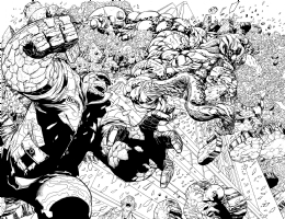 Ultimate Enemy #01 Pag 18-19 (Brian Michael bendis / Rafa Sandoval / Roger Bonet) Comic Art