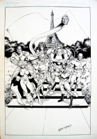 Bart Sears - JUSTICE LEAGUE EUROPE Comic Art