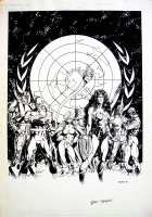 Bart Sears - JUSTICE LEAGUE EUROPE II Comic Art