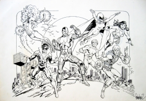 Jose Luis Garcia-Lopez - NEW TEEN TITANS Comic Art