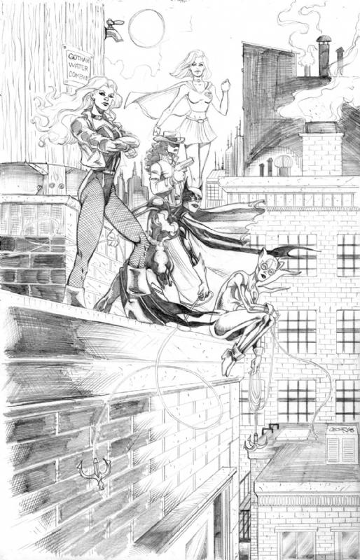 Gotham Girls, in Cesar Feliciano's Cesar Feliciano Artrworks Comic ...
