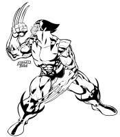 2007 Poster: Wolverine by Ken Lashley (inked) Comic Art
