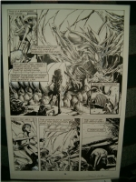 Dark Horse Comics #4 page 24 Alien Queen Splash David Roach Comic Art