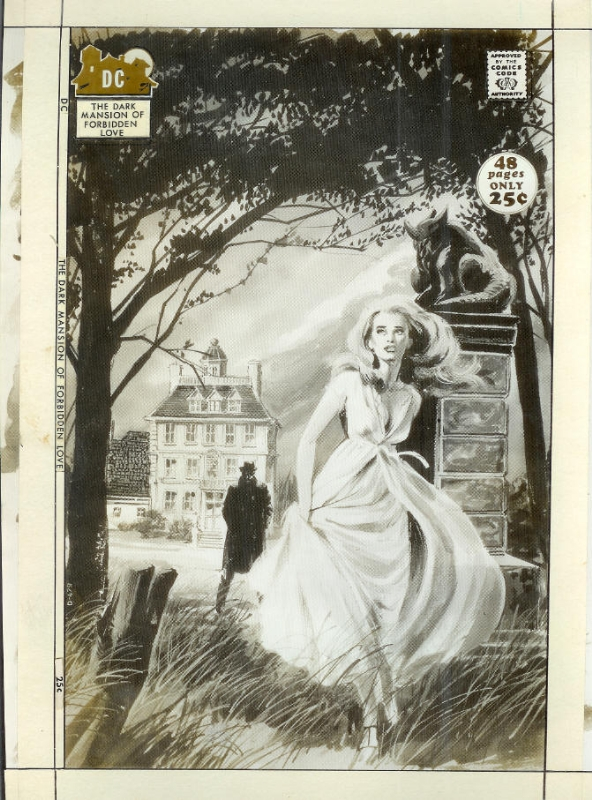 Neal Adams - Dark Mansion of Forbidden Love - Cover Comic Art