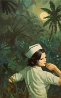 Robert MAGUIRE - Cover art for  Nurse in the Tropics , 1971 Comic Art