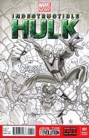 Hulk Spider Man Sketch cover, Comic Art