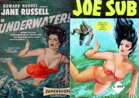 JANE RUSSELL & JOE SUB, Comic Art