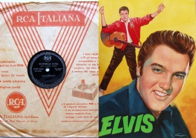 The FIRST ITALIAN RECORD of ELVIS PRESLEY, Comic Art