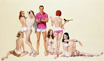 JAMES BOND  GIRLS Comic Art