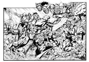 HULK / AVENGERS INKED VERSION  Comic Art