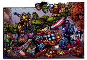 HULK / AVENGERS COLORED VERSION  Comic Art