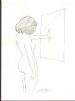 Terry Moore Nude Woman Comic Art