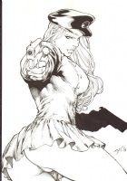 Ed Benes' Lady Blackhawk (Sold) Comic Art
