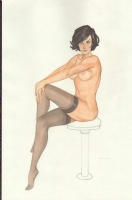 Phil Noto's Brunette (Warning Nudity) Comic Art