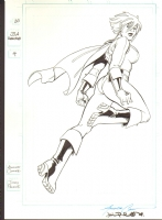 Amanda Conner's Power Girl Splash (Sold) Comic Art