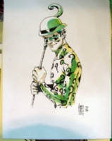 The Riddler MantovaComics2009 Sketch Comic Art