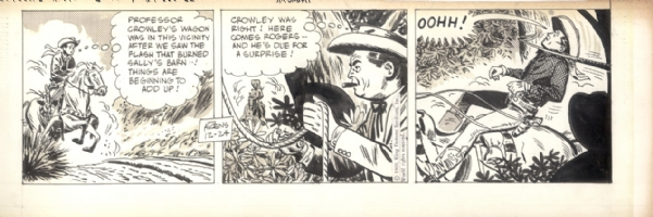 Alex Toth - Ghosting for Arens on Roy Rogers Comic Art