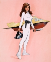 Jim Silke - Raquel Welch - Fantastic Voyage Comic Art