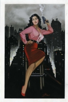 Jim Silke - A Film Noir Beauty - Mara Corday, Comic Art