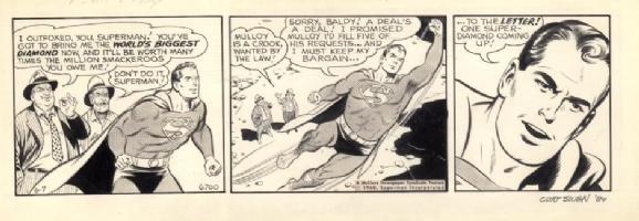 Curt Swan 1960 Superman daily Comic Art