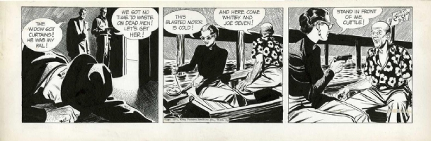 Alex Raymond Rip Kirby 3-21-1951 Comic Art