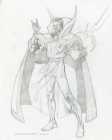 Kevin Nowlan - Dr Strange - Very Tight Pencil Drawing Comic Art