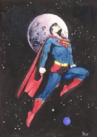 Bo Hampton Superman Commission Comic Art