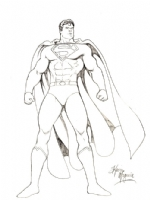 Kevin Maguire Superman Drawing Comic Art