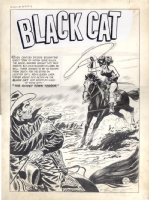 Lee Elias Black Cat 12 splash, Comic Art