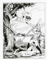 Angelo Torres - Commission - White Indian 15 Splash Comic Art