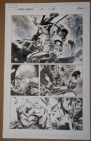 Captain America #33 page 14 (Epting/Guice - Winter Soldier vs. Iron Man) Comic Art