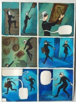 Richard Sala - Cat Burglar Black - p92 - preliminary art, Comic Art