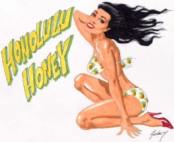 Honolulu Honey By Paul Gulacy  Comic Art