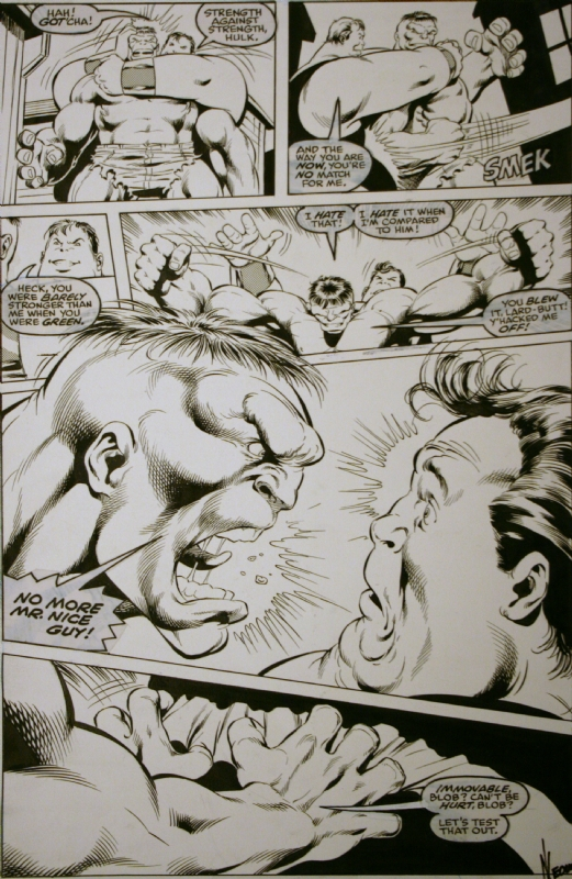 Hulk#369 pg18 -Dale Keown Comic Art
