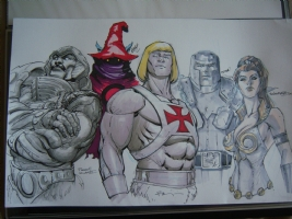 The Original 5 Heman - Final Jam Comic Art