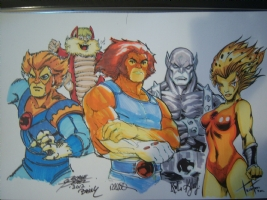 The Original 5 - Thundercats Jam (Homage to Alex Ross) Comic Art