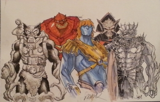 The Original 5: Heman Villains P2 Jam Final (Alex Ross Homage) Comic Art