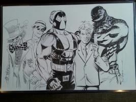 The Original 5 - Batman Villains Jam P2 Final (Alex Ross Homage) Comic Art
