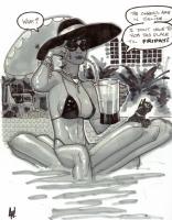 AH! Selina Kyle / Catwoman sketch Comic Art