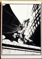 Wrightson Batman pinup Comic Art