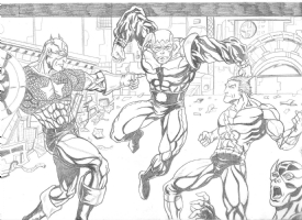 one minute later avengers num.21 Comic Art