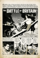 The Battle Of Britain! - Splash Page, Comic Art
