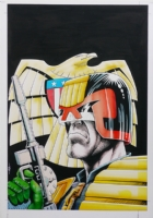 Judge Dredd Annual Cover 1987 Comic Art