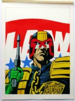 JUDGE DREDD COVER Comic Art