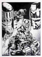 JUDGE DREDD / DEATH by JIM MURRAY Comic Art