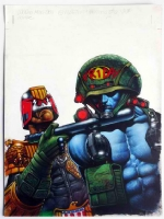 JUDGE DREDD & ROGUE TROOPER by JASON BRASHILL Comic Art
