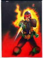 JUDGE DREDD by MARK WILKINSON Comic Art