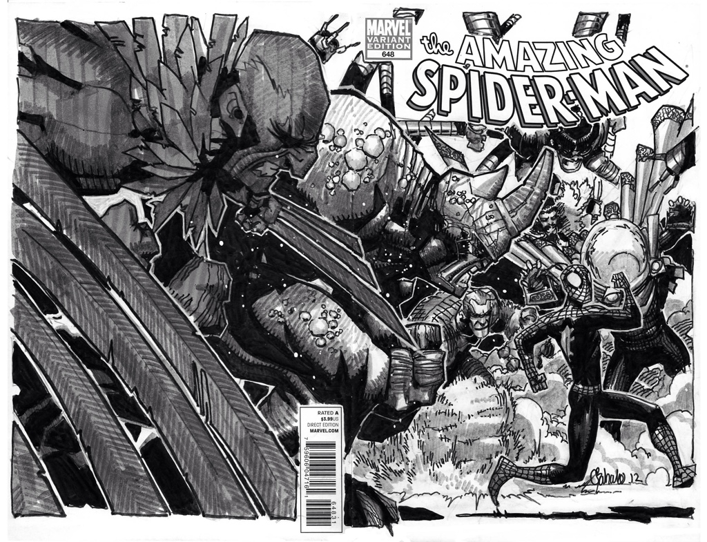 Amazing Spider-man - Spder-man vs Sinister Six - Chris Bachalo Comic Art