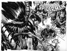 Spider-man vs Sinister 6 pt 2 Chris Bachalo Amazing Spider-man, Comic Art